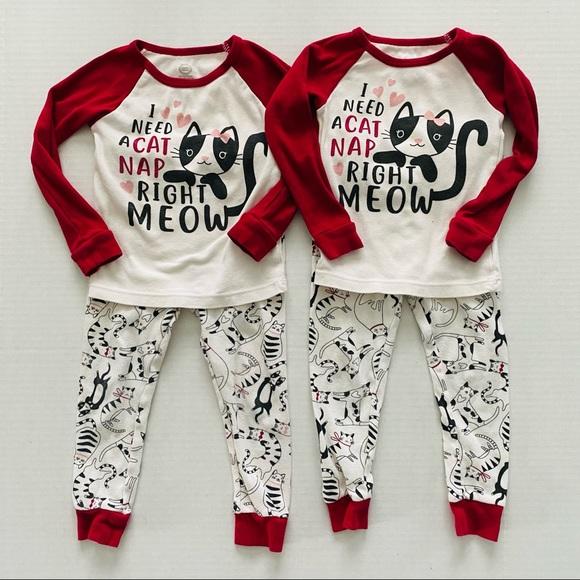 Wonder Nation | @ Cat Nap Pajama Set Bundle 3T